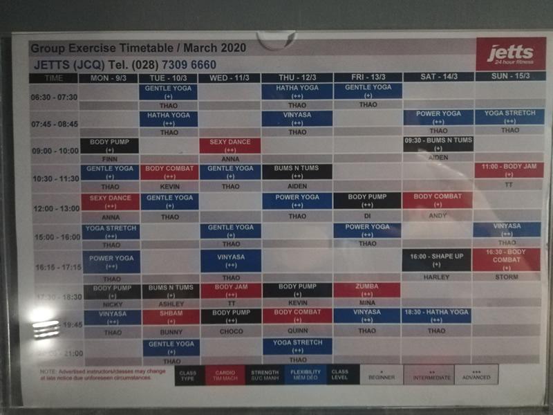 Jetts Vietnam timetable